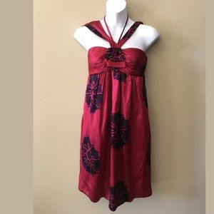New Marc by Marc jacobs red rum floral dress Sz 8
